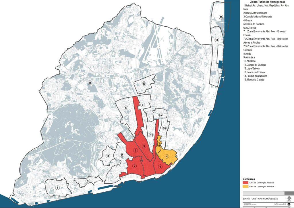 Mapa nova lei do alojamento local